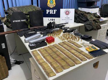 Itabela: Ação na BR-101 prende suspeitos de ataques a bancos; menor é apreendido